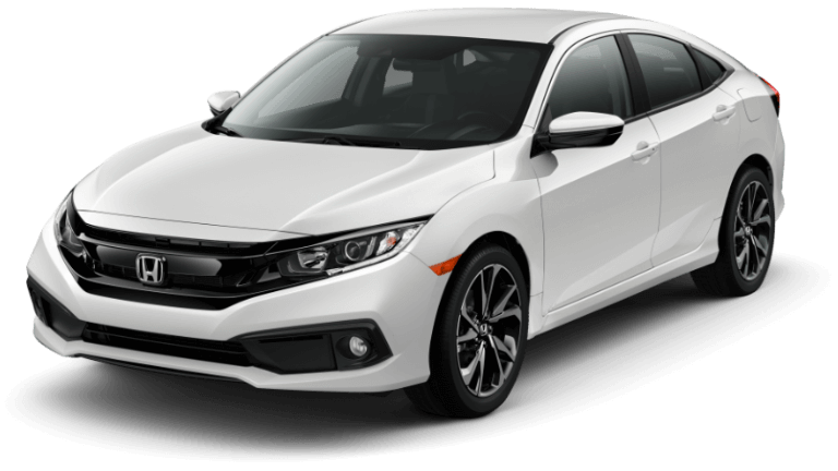 2020 Honda Civic Sport - Platinum White