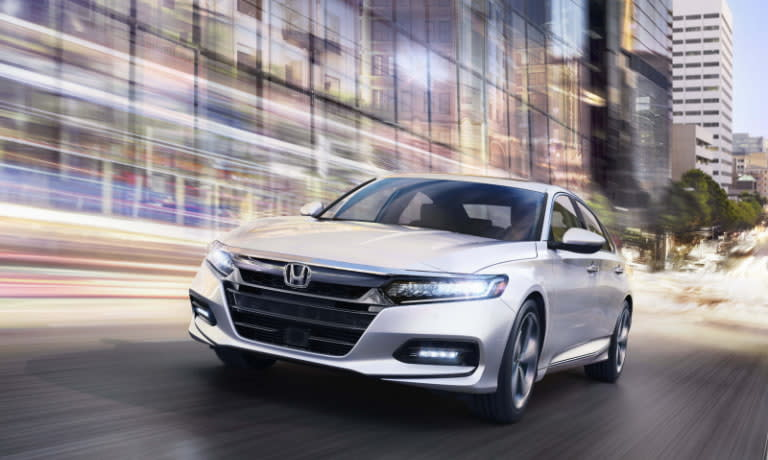 2020 Honda Accord front view driving in a city