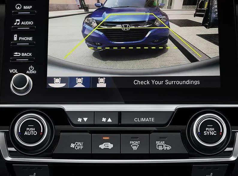 Cámara de visón trasera multiángulo disponible en el Honda Civic 2019