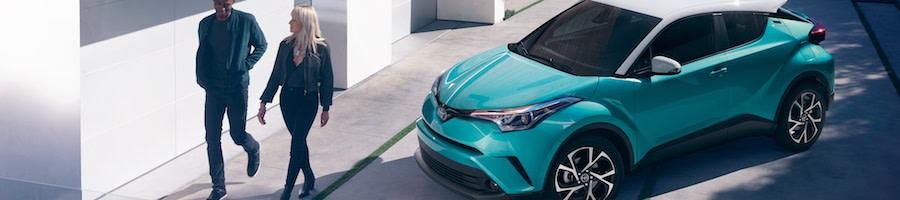 Blue Toyota C-HR