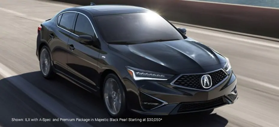 Shown:ILX with A-spec and Premium Package in Majestic Black Pearl