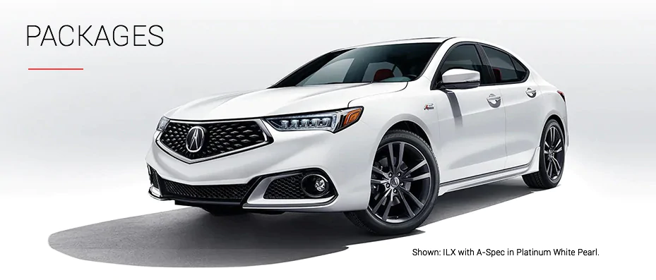 Shown: ILX with A-Spec in Platinum White Pearl.