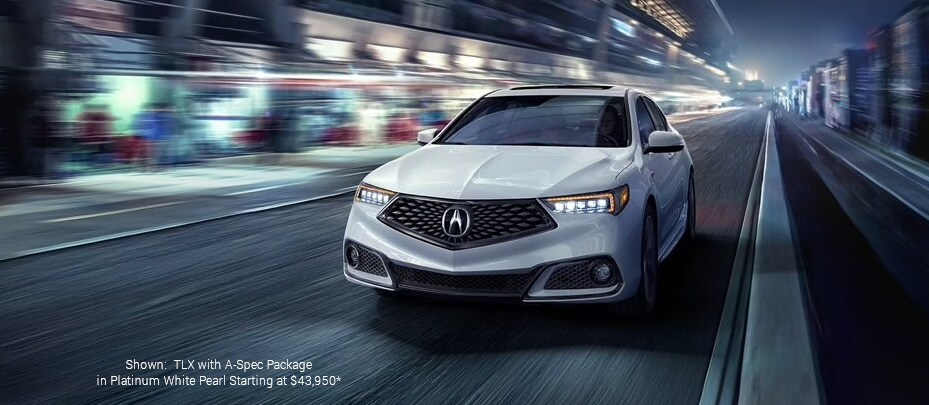 Shown: TLX with A-Spec Packages Platinum white Pearl