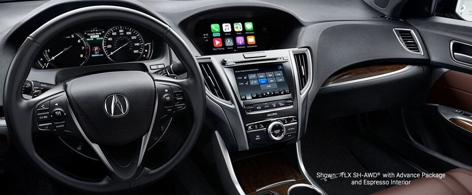 Shown: TLX with advance package and espresso interior