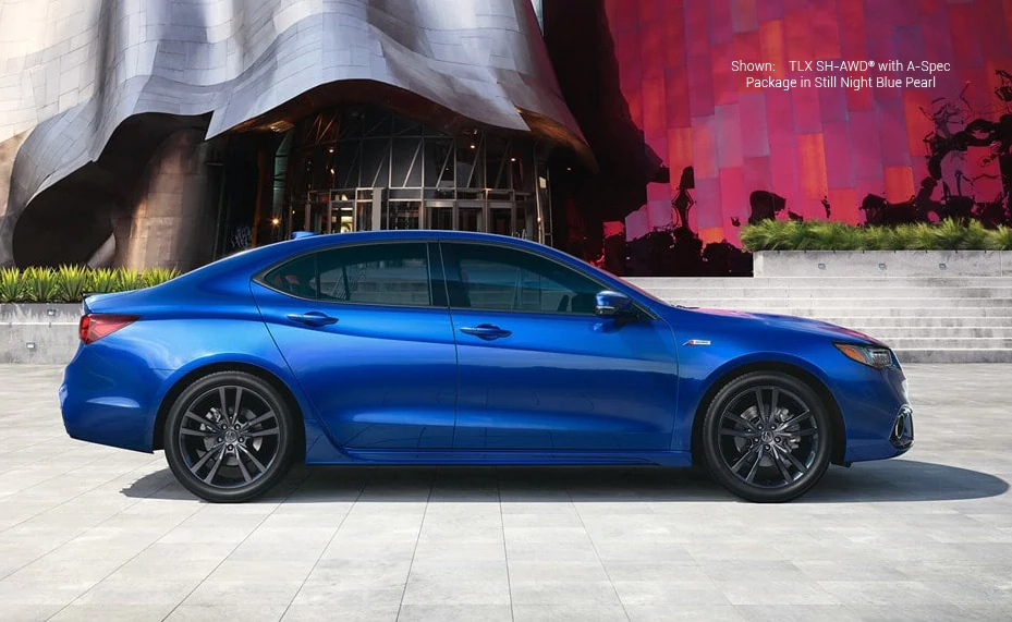 Shown: TLX with A-Spec Packages in Still Night Blue Pearl