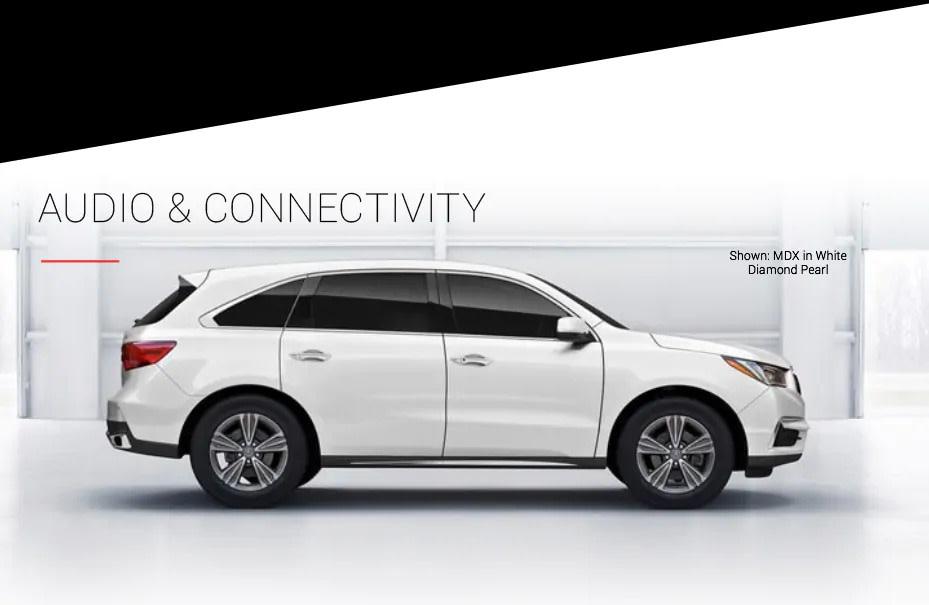 Audio & Connectivity Shown: MDX in White Diamond Pearl