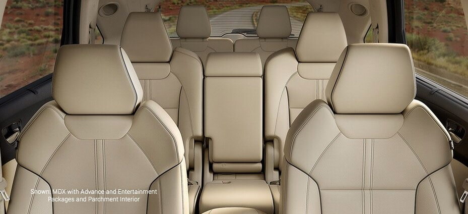 Shown: MDX with Advance and Entertainment Packages and Parchment Interior