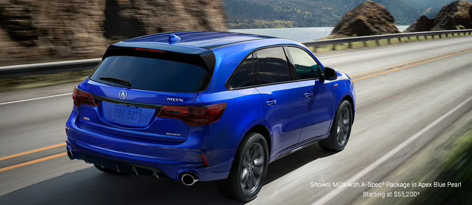 Shown: MDX with A-Spec Package in Apex Blue Pearl