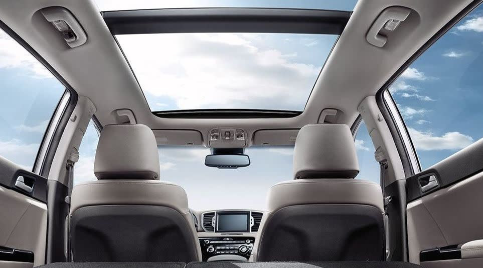 Interior of the Sportage