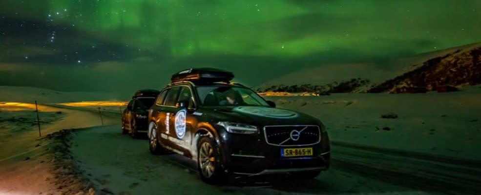 Volvo's van Nieuwenhuijse onder het noorderlicht